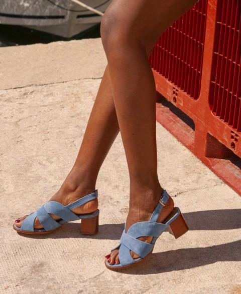 Sandals n°551 Denim