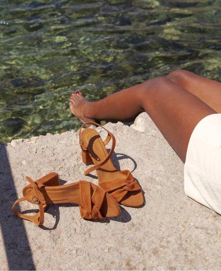 Sandals n°440 Havane Suede | Rivecour