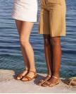 Sandals n°112 Havane Suede | Rivecour