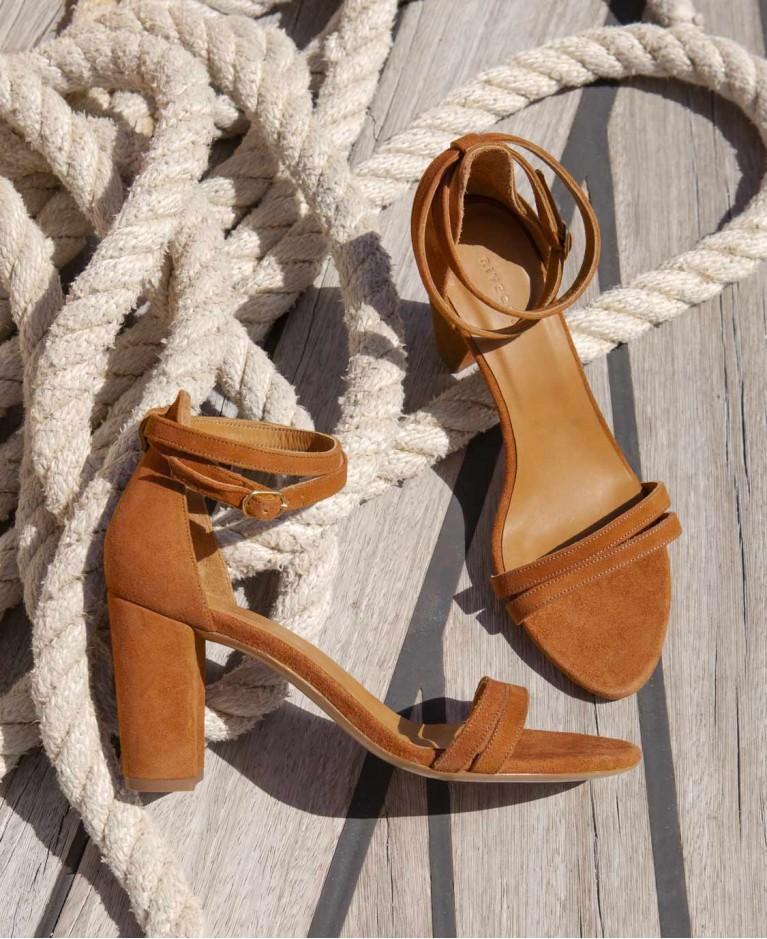 Sandals n°853 Havane Suede| Rivecour