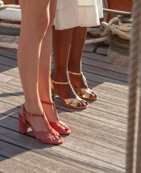 Sandals n°850 blush