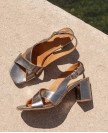 Sandals n°652 Silver Leather  Rivecour