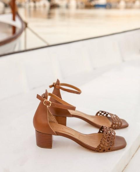 Sandals n°890 Cognac