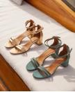Sandales n°200 Croco Orange