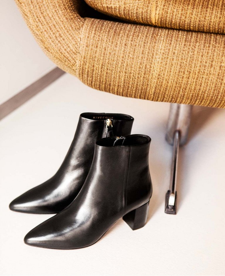 Boots n°107 Black Leather| Rivecour