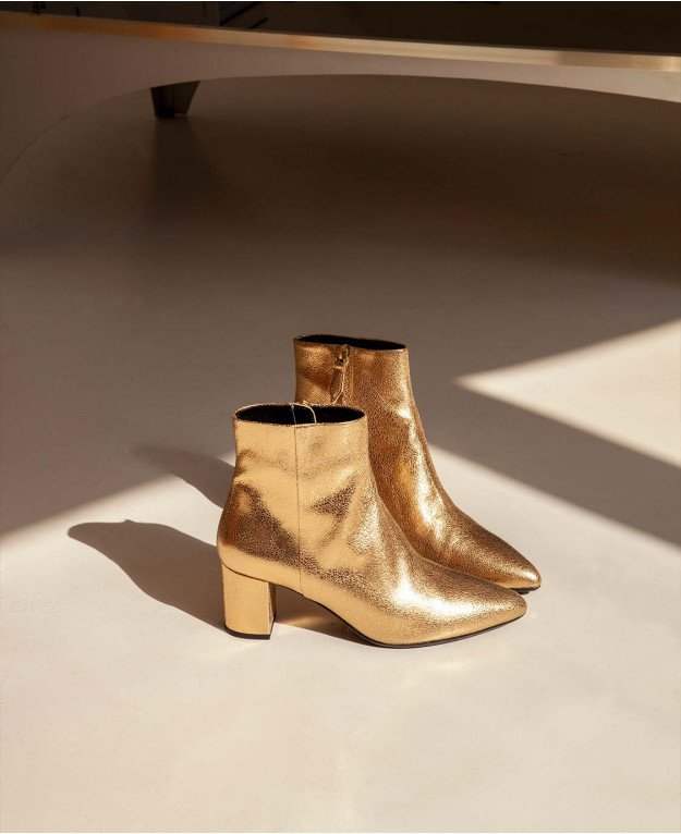 Boots n°107 Gold Leather  Rivecour