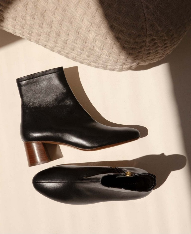 Boots n°401 Black Leather| Rivecour