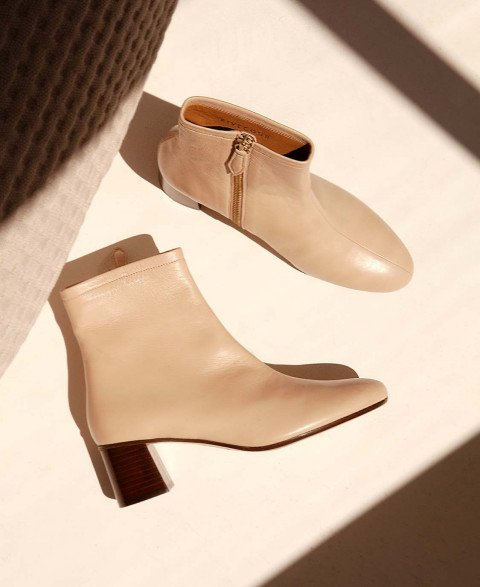 Boots n°401 Cream Leather| Rivecour