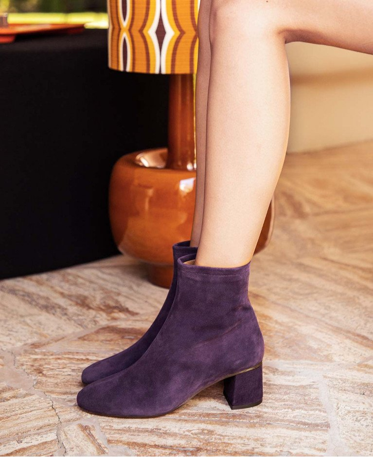 Boots n°401 Aubergine Suede| Rivecour