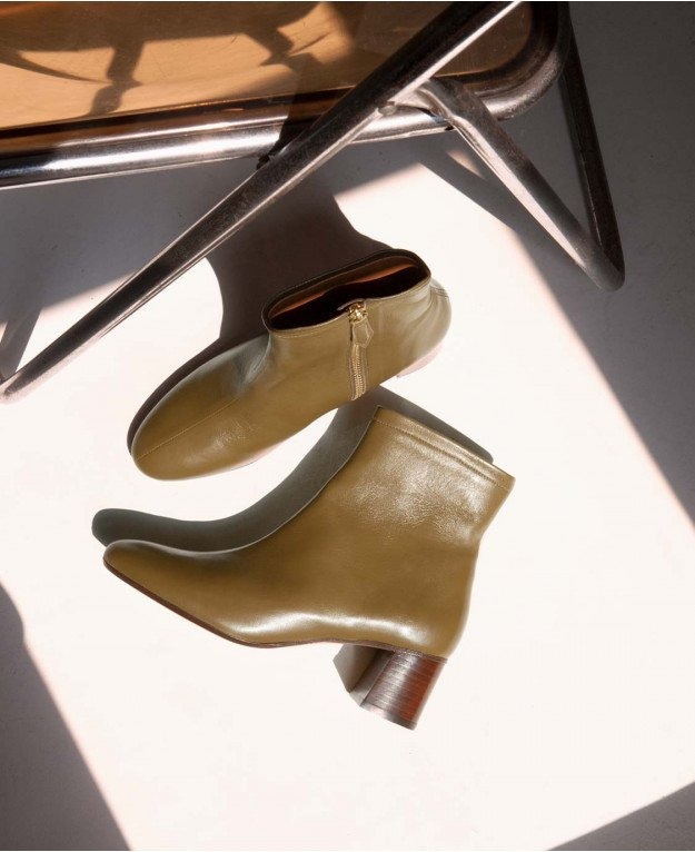 Boots n°401 Olive Leather| Rivecour
