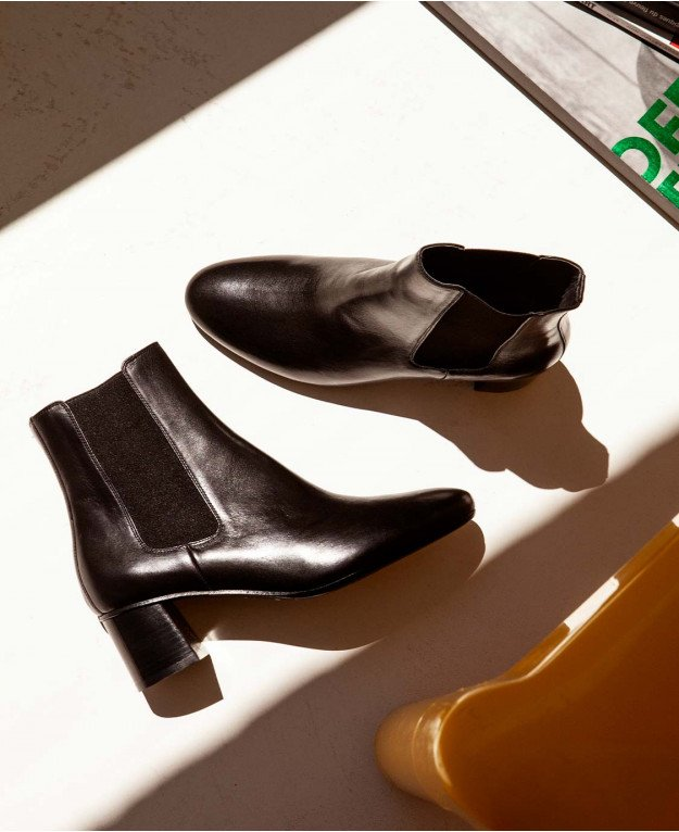 Boots n°402 Black Leather| Rivecour