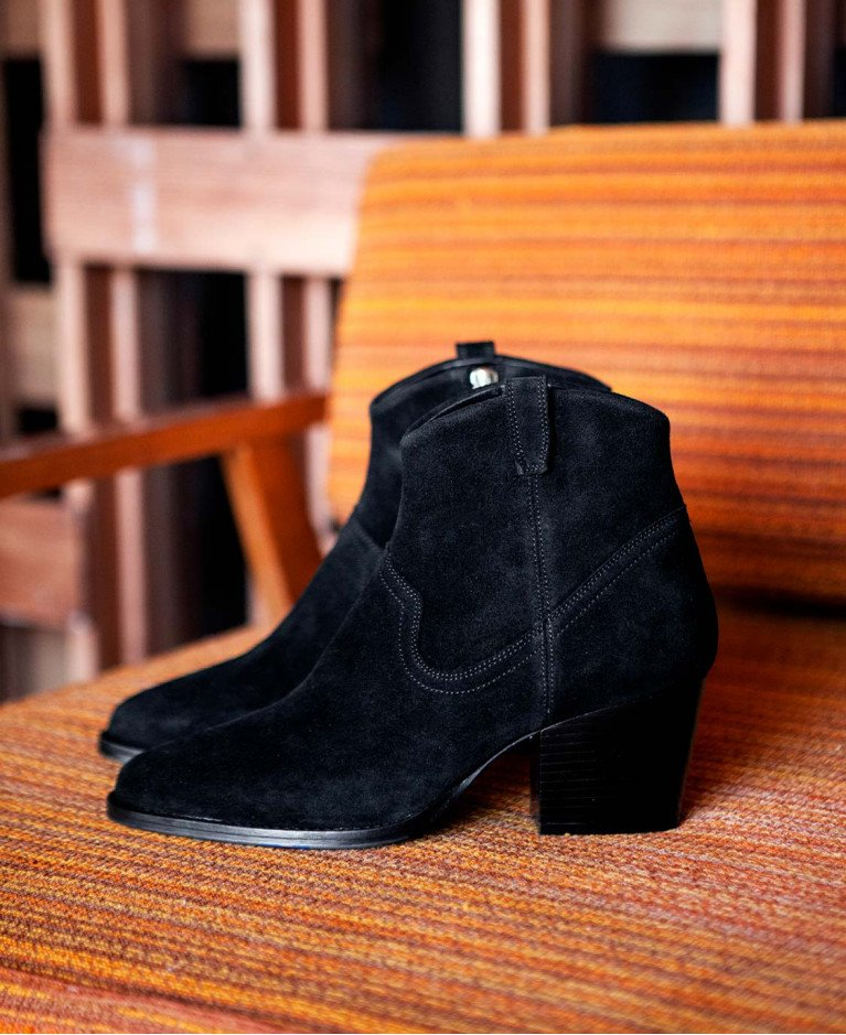 Boots n°704 Black Leather| Rivecour