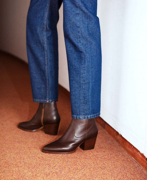 Boots n°704 Brown Leather| Rivecour