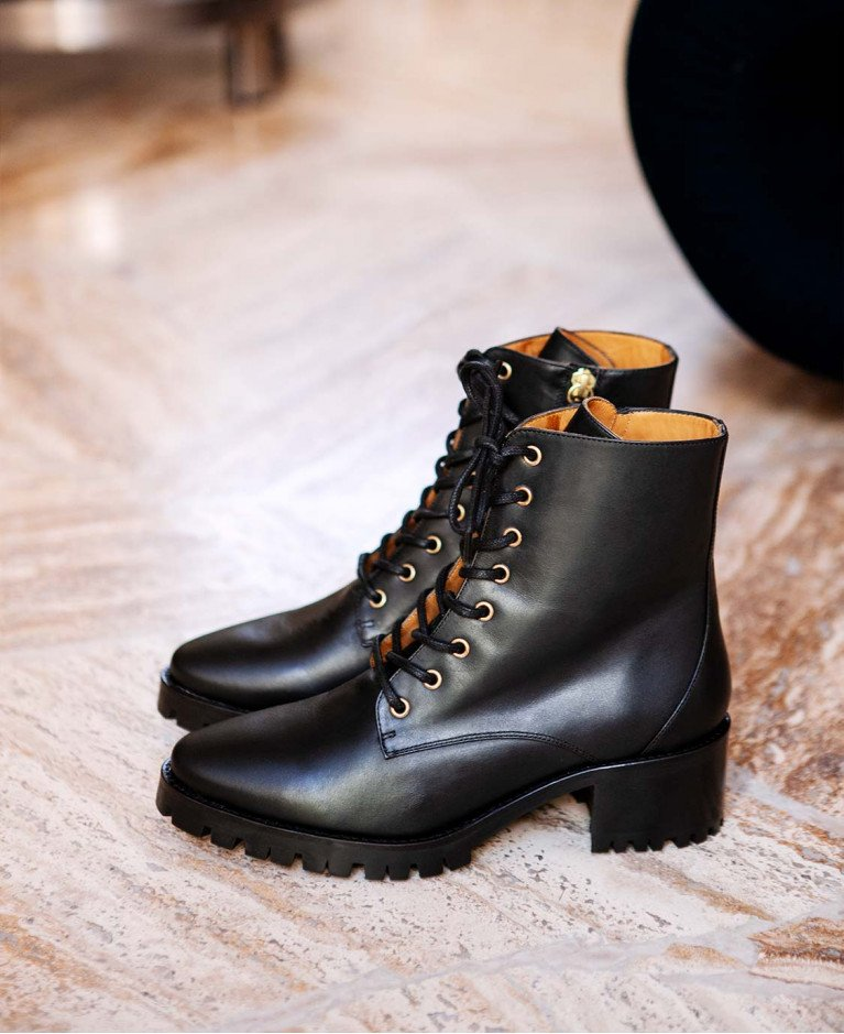 Boots n°79 Black Leather| Rivecour
