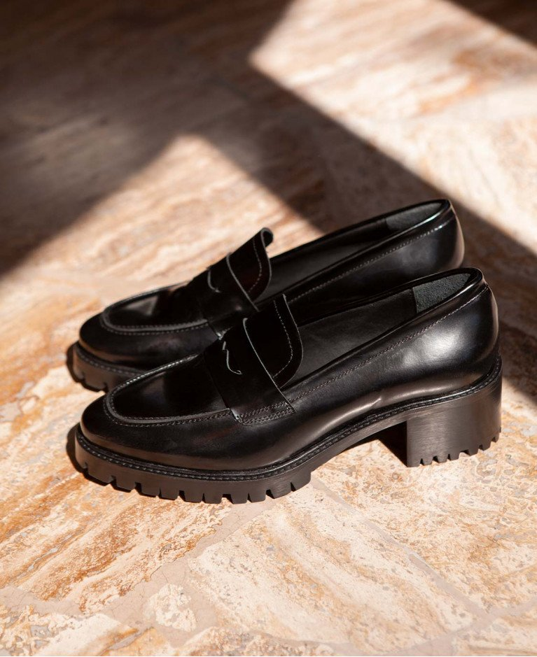 Moccassins n°81 Black Leather| Rivecour