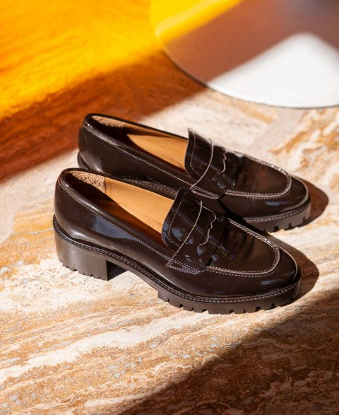 Moccassins n°81 Brown Leather| Rivecour