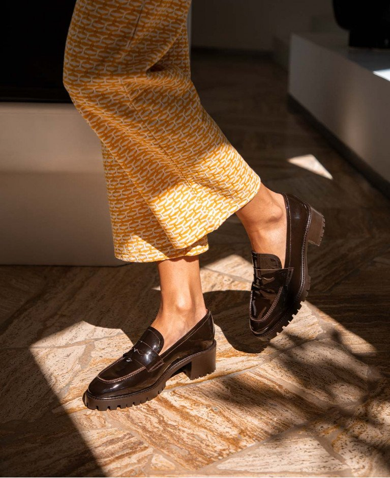 Moccassins n°81 Brown Leather  Rivecour