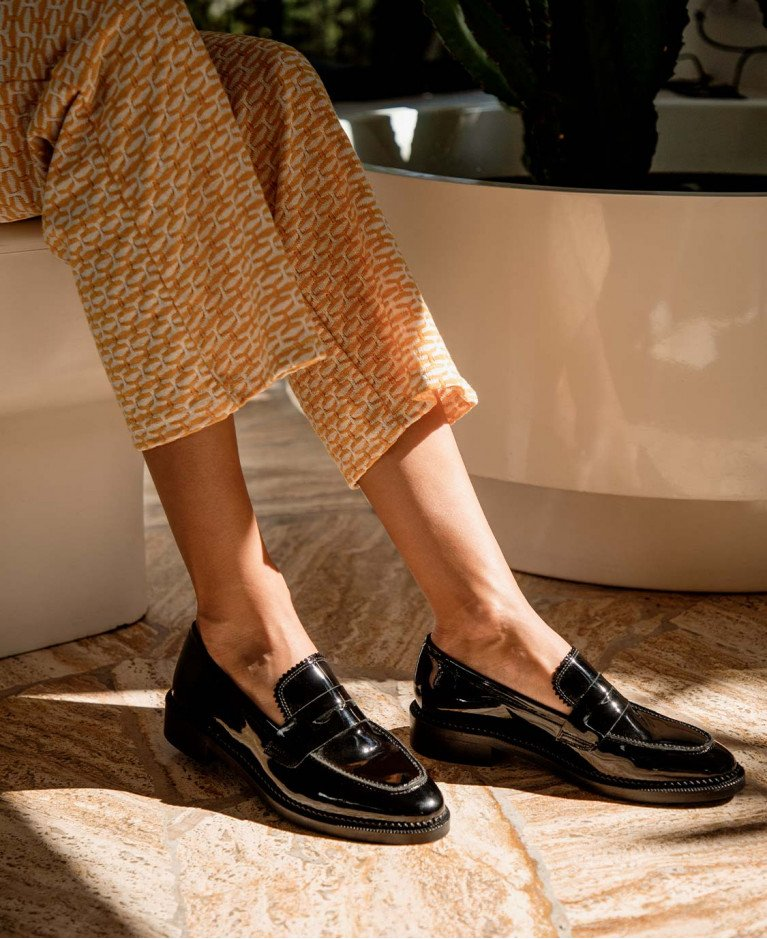 Moccassins n°82 Black Leather| Rivecour