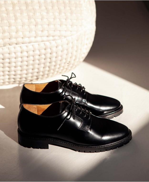 Derbies n°83 Black Leather| Rivecour