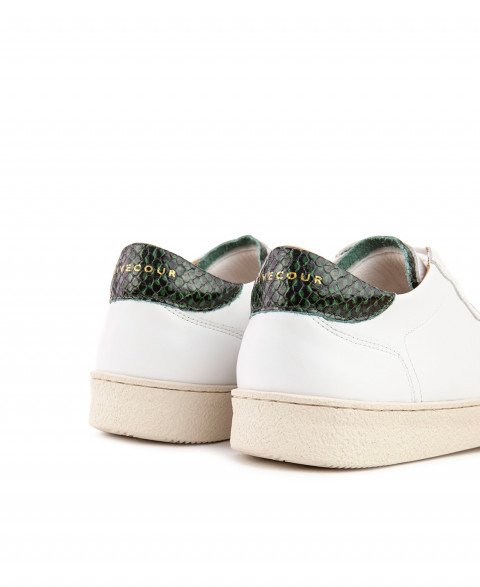 Sneakers n°14 White / Green  Rivecour