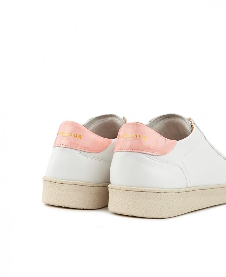 Sneakers n°14 White / Blush| Rivecour