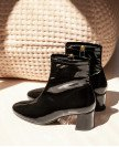 Boots n°401 Black Patent Leather | Rivecour
