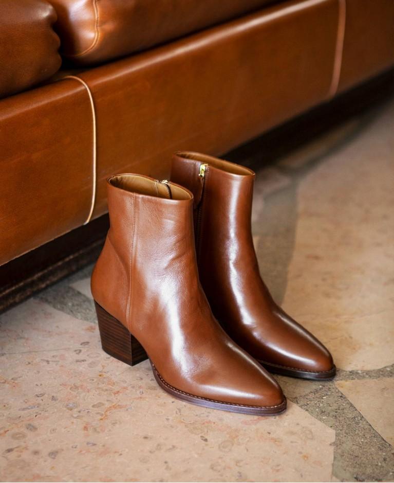Boots n°700 Cognac Leather| Rivecour