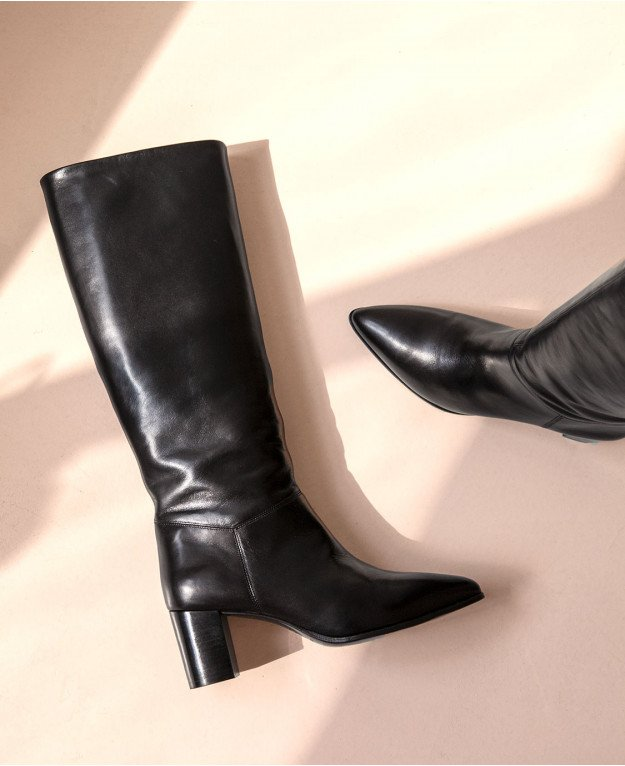 Boots n°108 Black Leather| Rivecour
