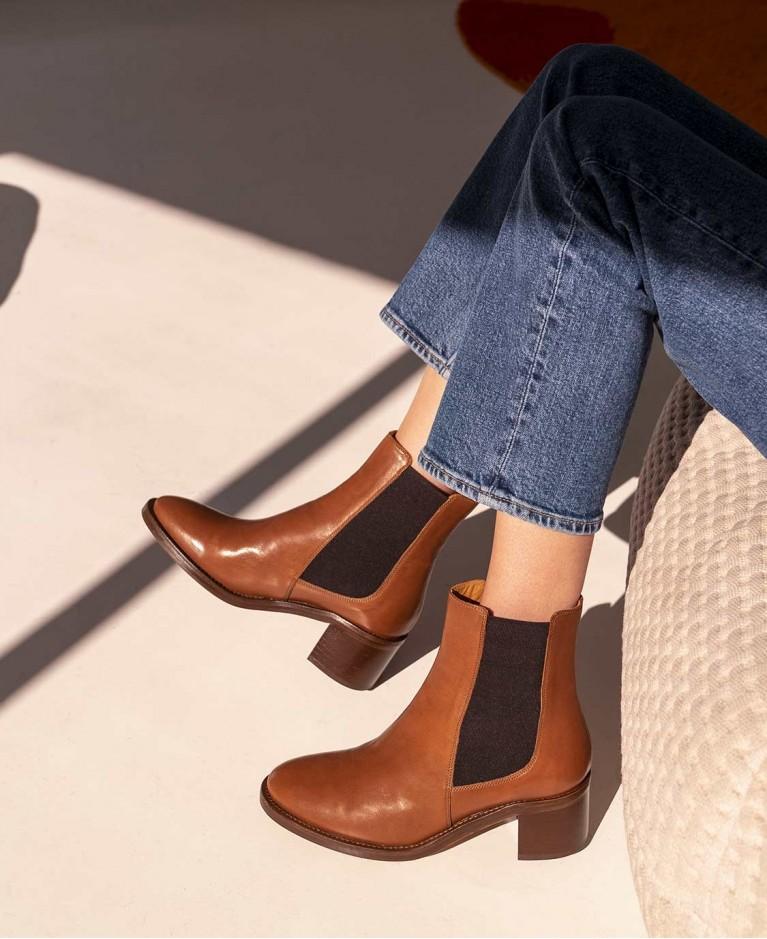 Boots n°289 Cognac Leather| Rivecour