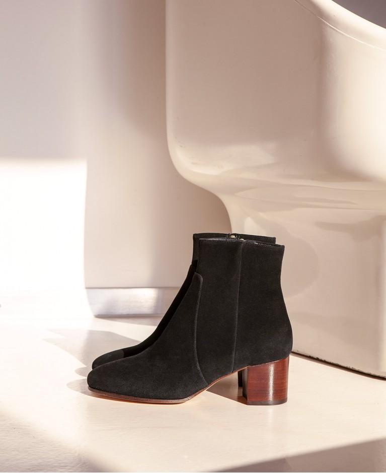 Boots n°298 Black Suede| Rivecour
