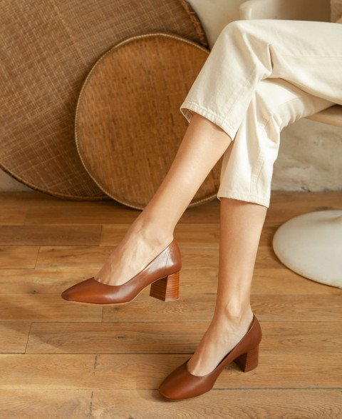 Pumps n°590 Cognac