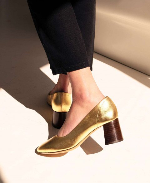 Babies n°590 Gold Leather| Rivecour