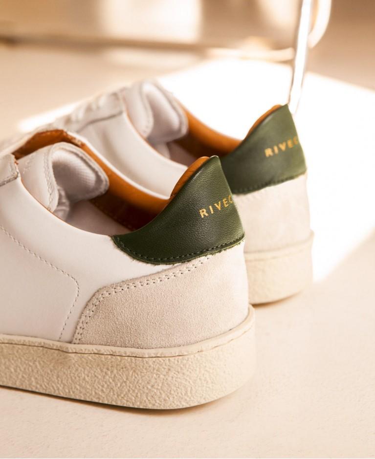 Sneakers n°12 White/Kaki| Rivecour