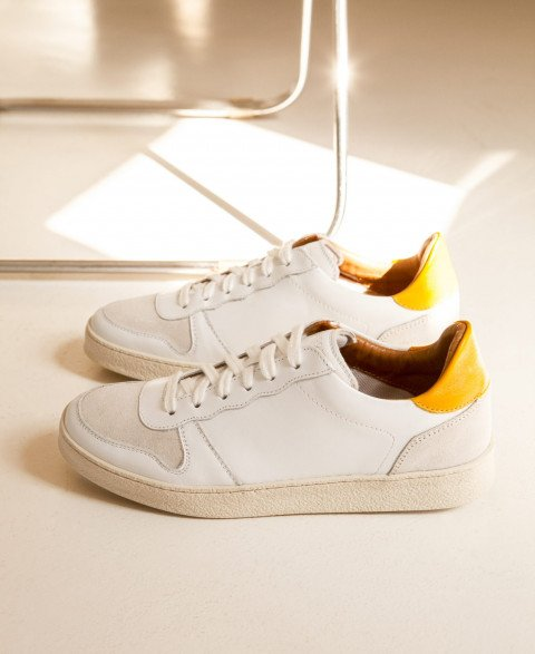Sneakers n°12 White/Yellow| Rivecour