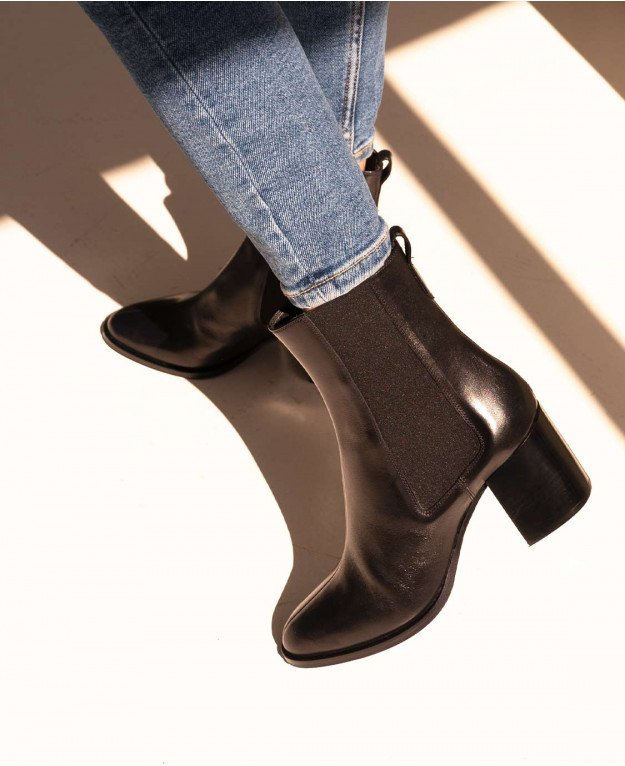 Boots n°663 Black Leather| Rivecour