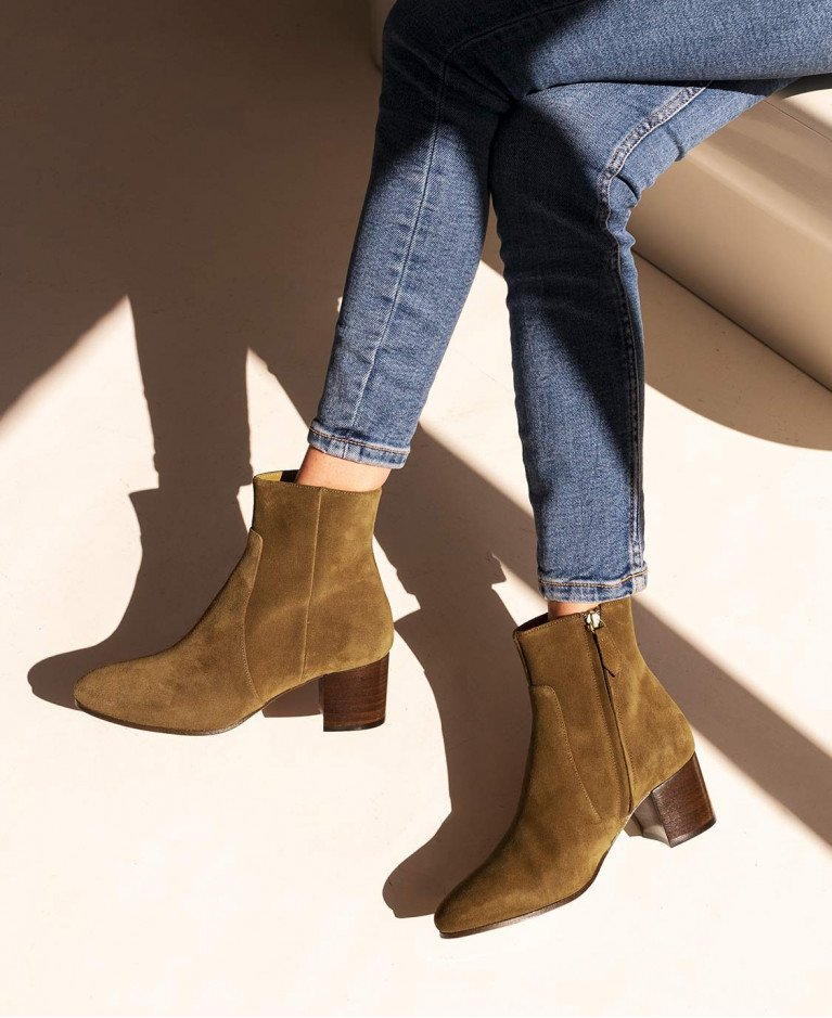 Bottines n°298 Suede Ecorce | Rivecour