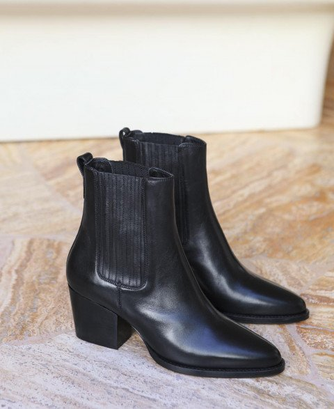 Boots n°705 Black Leather| Rivecour