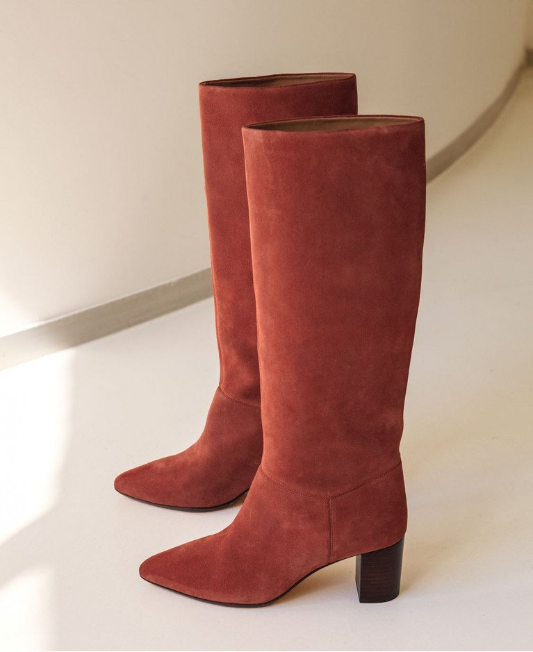 Boots n°108 Terracotta Suede| Rivecour
