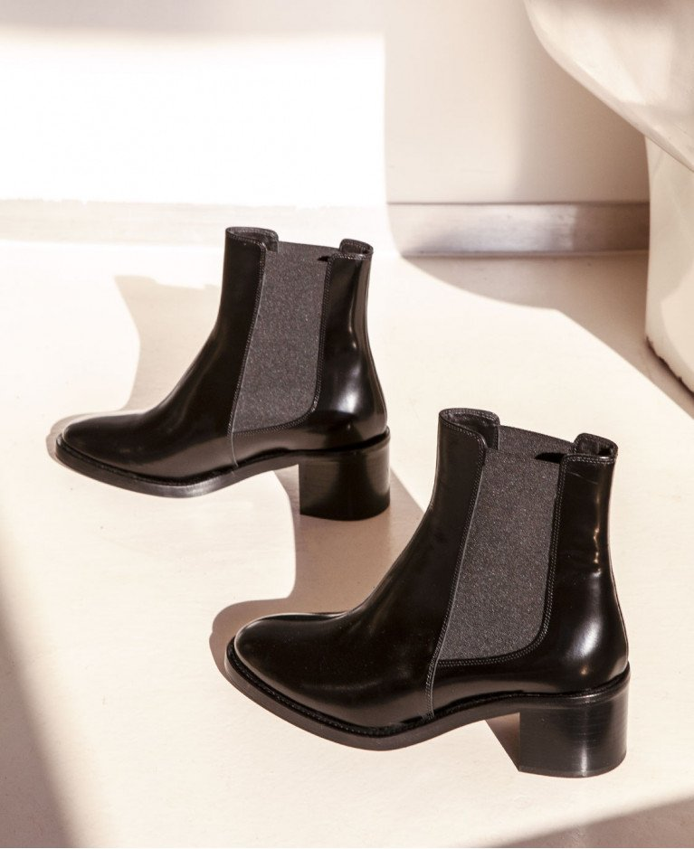 Boots n°289 Black Leather| Rivecour