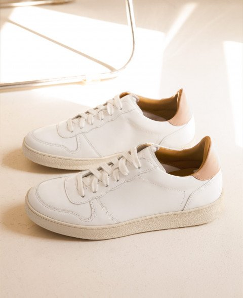 Sneakers n°12 White/Nude| Rivecour