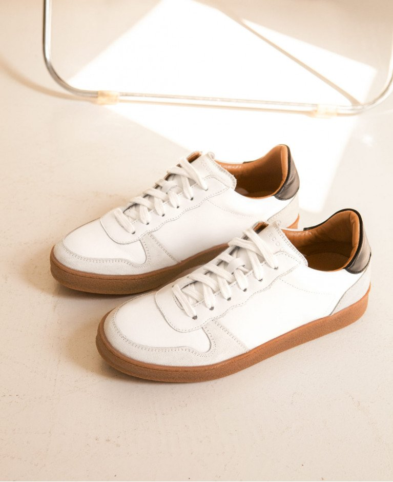Sneakers n°12 White/Black  Rivecour