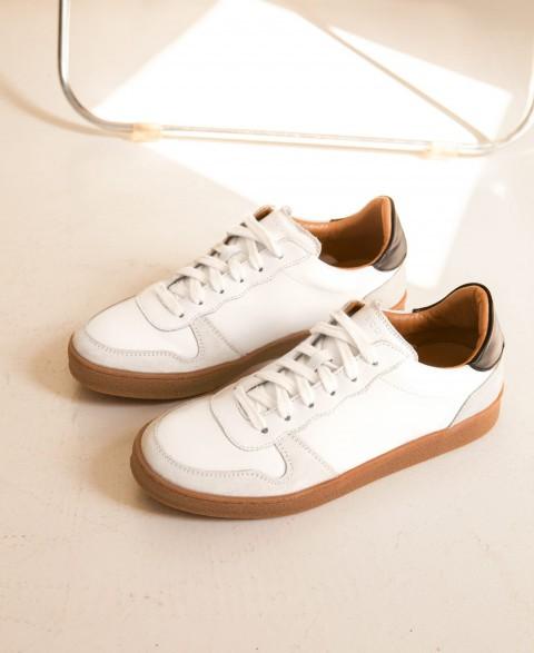 Sneakers n°12 White/Black| Rivecour