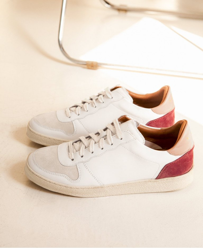 Sneakers n°12 White/Nude/Marsala| Rivecour