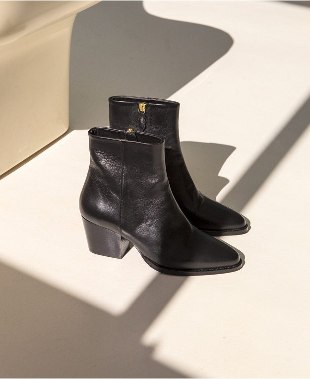 Boots n°700 Black Leather | Rivecour