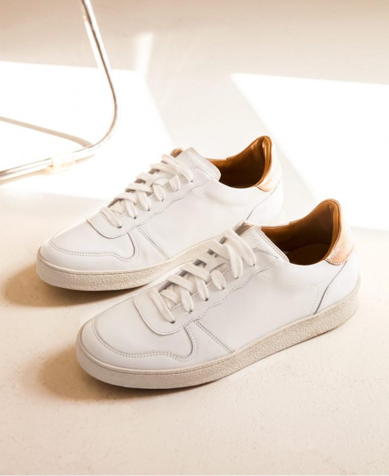Sneakers n°12 White/Metal  Rivecour