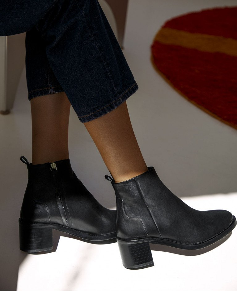 Boots n°286 Black Leather| Rivecour