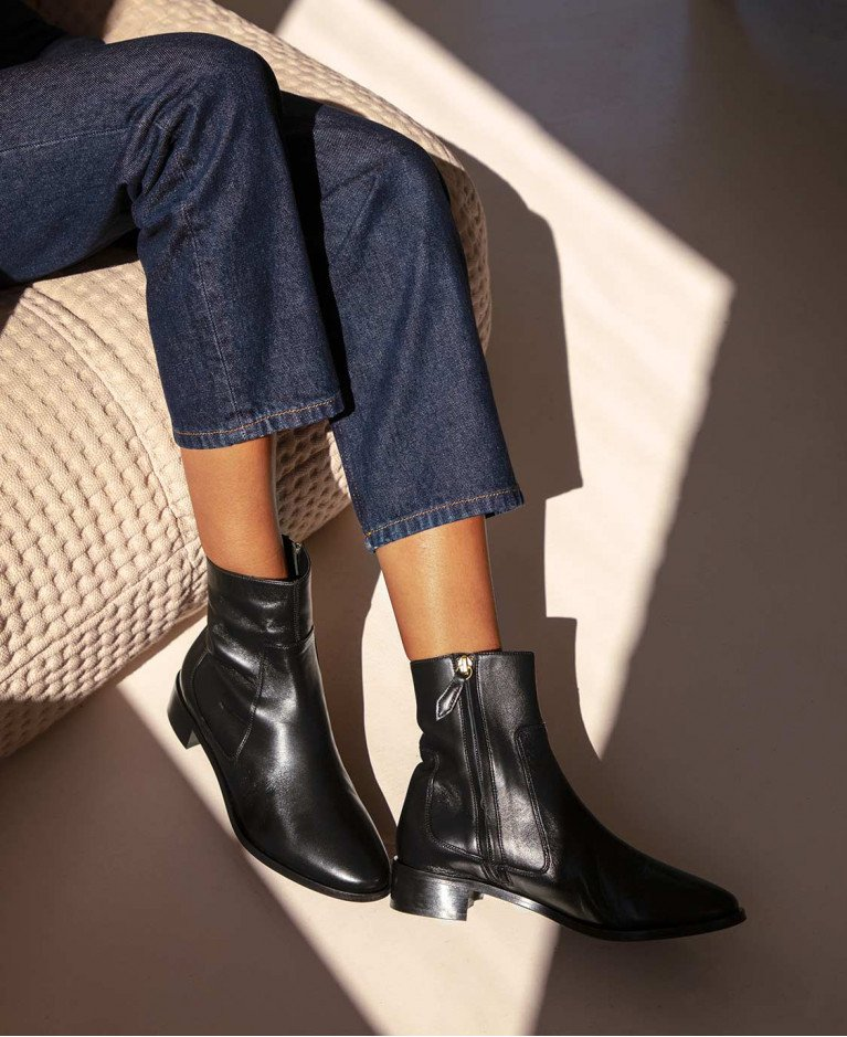 Boots n°67 Black Leather| Rivecour