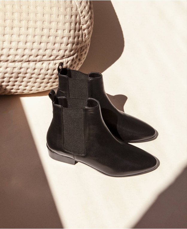 Boots n°66 Black Leather | Rivecour