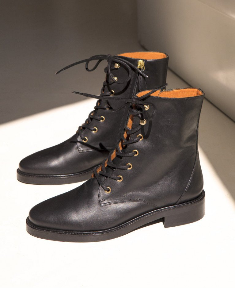 Boots n°499 Black Leather | Rivecour