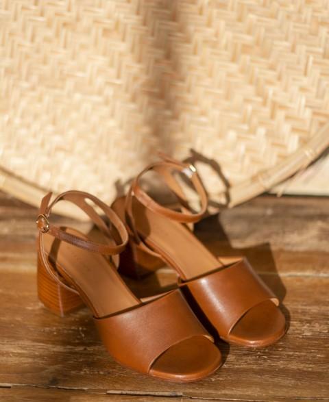 Sandals n°889 Cognac